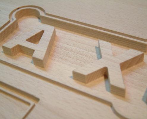 2D hout frezen van massief beuken