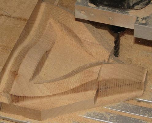 3D frezen: Escher-driehoek