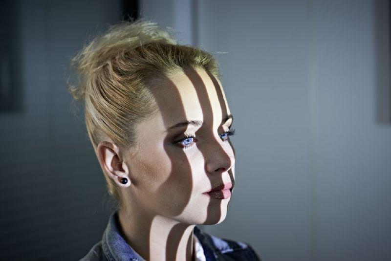 Gezicht 3D-scannen met lichtstrepen