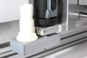 Aanzuigmond voor stofafzuiging op de CNC-machine