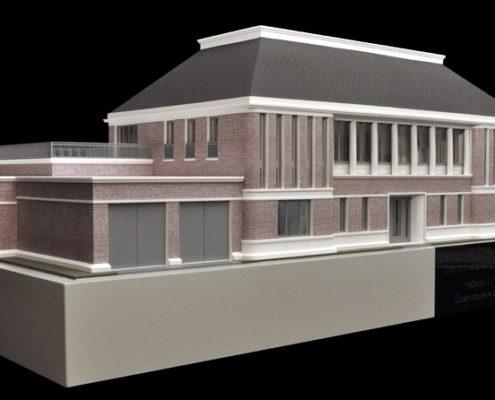Architectonisch model van een landhuis