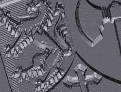 ConstruCAM wapenschild-reliëf uit foto