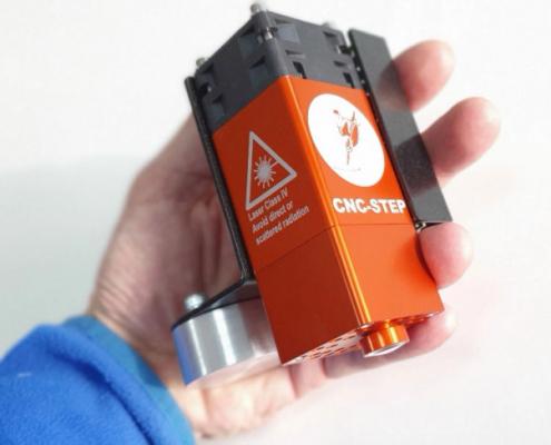 De Lasergraveermodule is zeer compact maar toch krachtig.