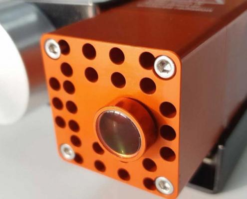 De focus-lens van de graveermodule