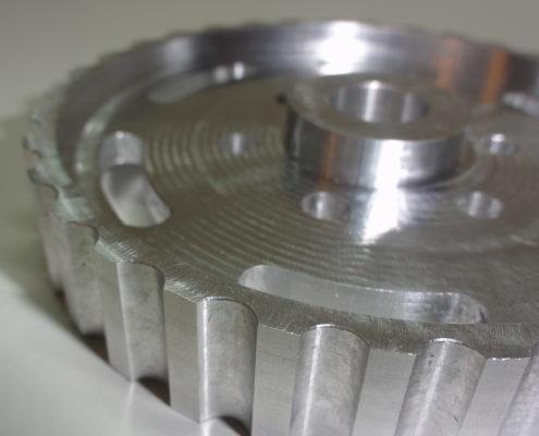 NOkkenastandwiel uit aluminium frezen