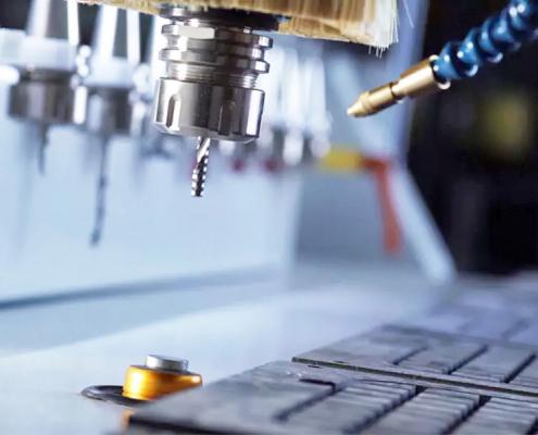 Gereedschapslengtesensor op een Servo-aangedreven T-Rex CNC-machine
