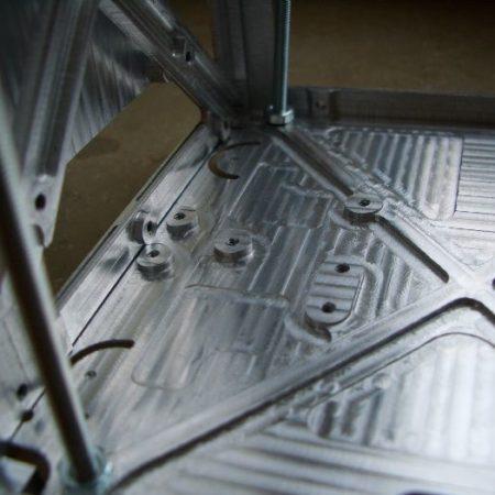 Dunwandige aluminium delen frezen voor satellieten