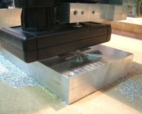 3D frezen in aluminium: uitsparingen