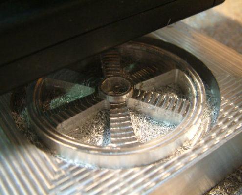 3D frezen in aluminium: omtrek