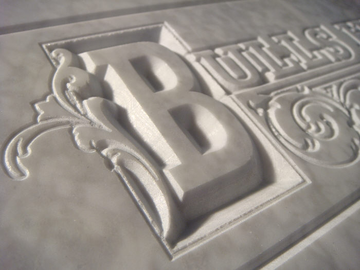3D graveren in Carrara-marmer