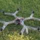 CNC-gefreesde octocopter met CFK Propellers en landingsgestel