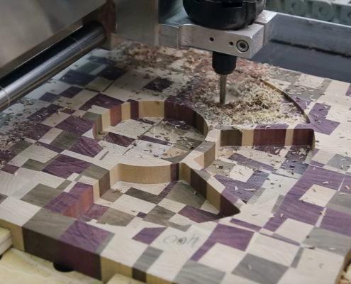 CNC frezen houten notenschaal