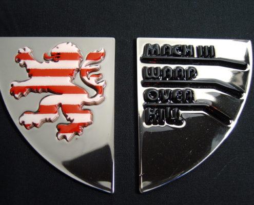 Edelstaal logo voor op een Trike