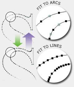 VCarve Pro: vloeiende curves
