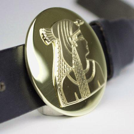 Riemgesp met diamantgravure farao