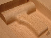 Hout frezen: 3D grip prototype