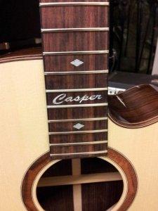 Inlay voor een akoestische gitaar