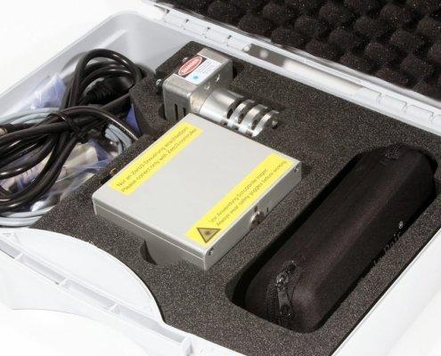 Lasergraveer-module in handige kunststof koffer