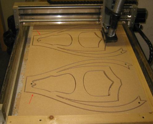 MDF frezen op een CNC-machine