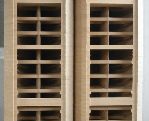 Constructie uit MDF-platen voor high-end speakers