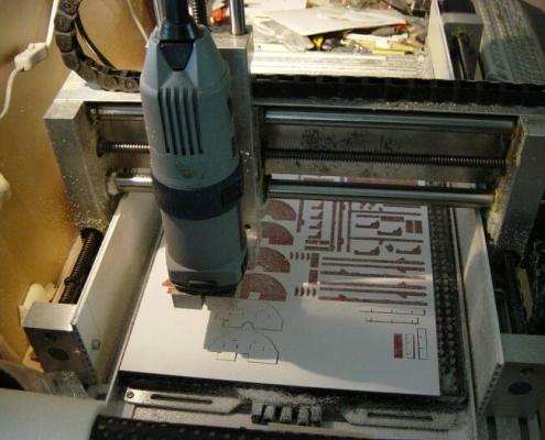 CNC frezen van modelbouw-onderdelen