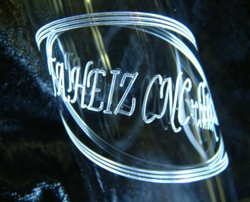 Plexiglas cilinder CNC graveren