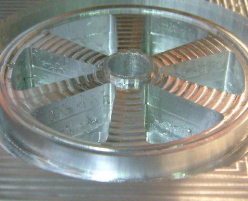 Alumium gefreesd wiel gereed