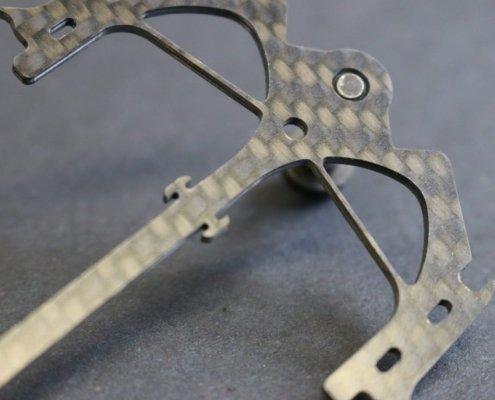 Zelfs een slotcar kan lichter gemaakt worden met carbon fiber