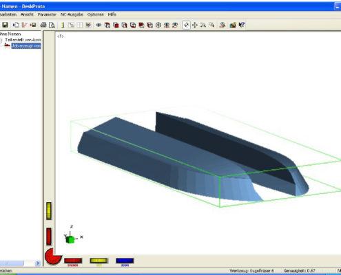 Snel 3D frezen van een catamaran-model