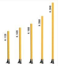 Staanders in verschillende lengten
