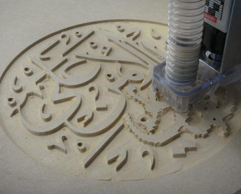 CNC-machine gebruiken om reclameborden en signing te maken